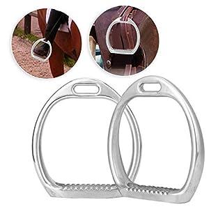 Pssopp 1 Paar Aluminium Kinder Leichte Steigbügel Pad Pferdesport Reiten Sattel Pferd Sattel Kinder Steigbügel für…