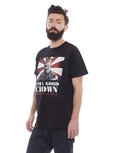 American Horror Story T-Shirt Freak Show Twisty Clown Baumwolle schwarz Schwarz