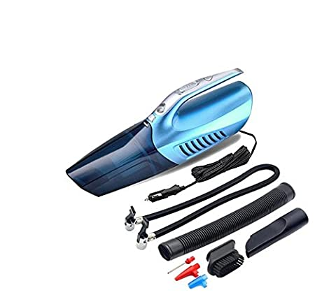 NWYJR Car Vacuum Cleaner ,Car Vacuum Cleaner Wet/Dry 12V 100W Car Vacuum, Tire Inflator, Tire Pressure Gauge & Led Light With Carry