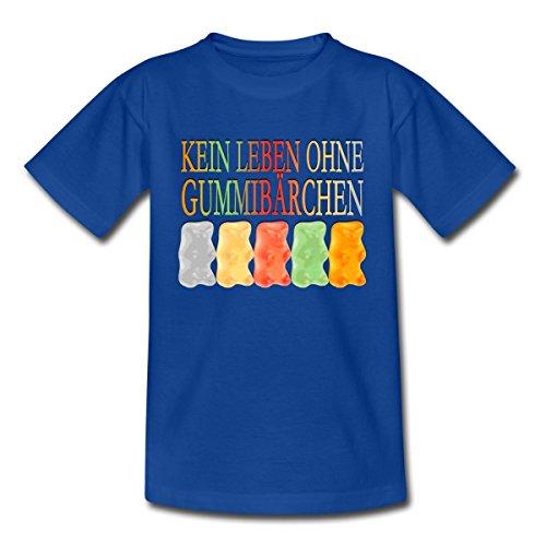 Spreadshirt Süßigkeiten Kein Leben Ohne Gummibärchen Kinder T-Shirt, 110/116 (5-6 Jahre),...