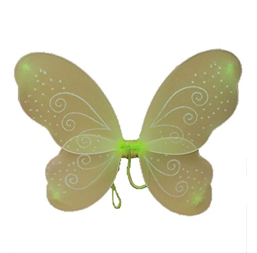 eenhaftes Schmetterlings-Netz Wings mit Funkeln wirbelt St. Patricks Day der Frauen Zubeh�r-Gr��e (Womens St Patricks Day Kostüme)