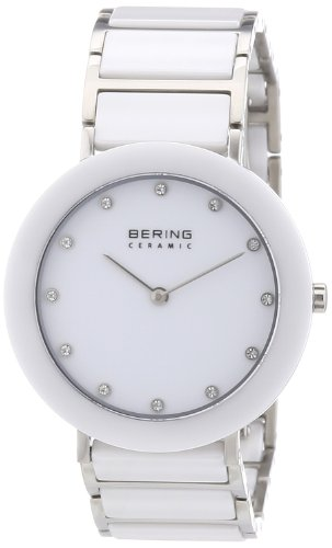BERING Time Damen-Armbanduhr Slim Ceramic Analog Quarz 11435-754