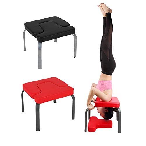 Peitten Kopfstandbank Yoga Inversion Hocker Yoga Aids Workout Chair Upside Down Chair Kopfstandhocker Multifunktionale Sport-Trainingsbank Fitnessgeräte für Stressabbau und Bodybuilding