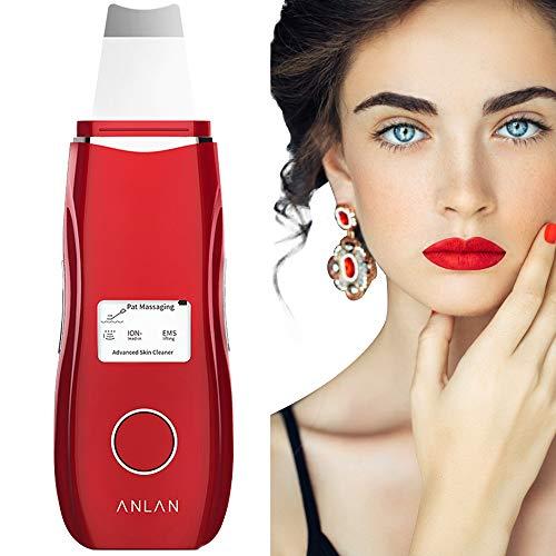 ANLAN Peeling Ultrasónico Facial con 5 Modos, LCD Pantalla, USB Recargable, Equipo de Belleza Facial...