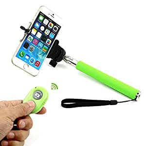 Go Crazzy Monopod Extendable Selfie Handheld Stick With Adjustable Phone Holder And Bluetooth Wireless Remote Shutter For Elephone P7000