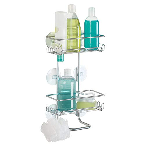 mDesign Estantería para ducha colgante (grande) – Repisa para baño fijada  con ventosas baed8d739de9