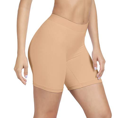 SIHOHAN Damen Unterhosen, Lange Frauen Panties, hohe Taille und Bequem, 1er Pack (Beige, M)