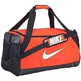 Nike Brasilia Medium Training Duffel Bag, Jungen, Team Orange/Black/White, Einheitsgröße