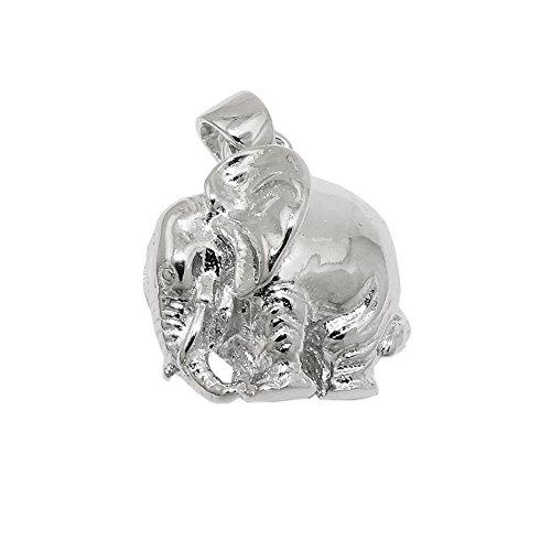 Colgante cuello elefante Elefant Chen maciza 925 de plata