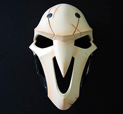 hcoser OW Reaper Maske Cosplay Horror Helm Kostüm Halloween für Erwachsene
