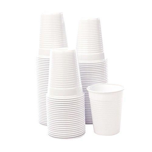 Bicchieri monouso plastica bianchi 200cc acqua bibite usa e getta 2X100 pz