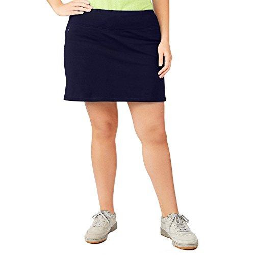 Danskin Now Damen Rock mit versteckter Tasche, größenverstellbar, Einheitsgröße - Blau - 4X -