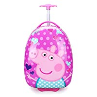 """SF- World Peppa Pig Children Kids Holiday Travel Character Suitcase Luggage Trolley Bags 16"""" (Dancing Peppa)"""