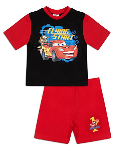 Image of Disney Cars Shortie Pyjamas Boys Official Short Pyjama Set (3-4 Years)
