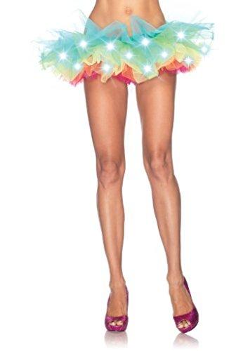 Aimerfeel Frau LED + leuchtet Regenbogen Neon-Ballettröckchen-Rockmehrfarbig 5 Tutu, Größe 36-42