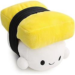 Comida japonesa Sushi Almohada Cojín Cute Plush Toy Decoración Almohada Sushi Almohada Muñeca Niños Regalo de los niños (yellow)