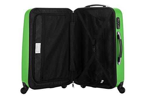 HAUPTSTADTKOFFER® 42 Liter Handgepäck · WEDDING · TSA · MATT · (in versch. Farben) + REISEADAPTER (Dunkelblau) Apfelgrün