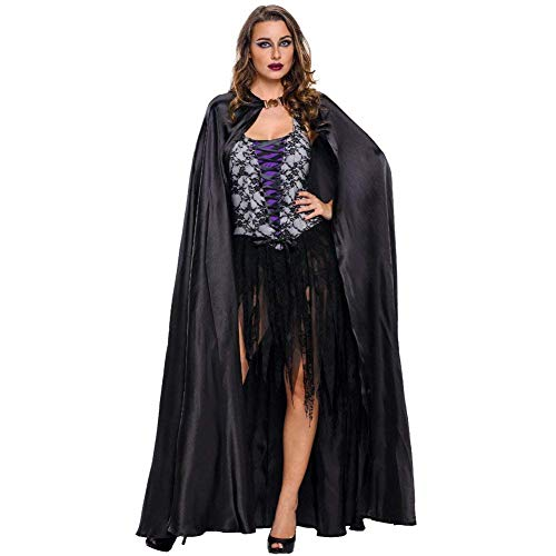 Weibliche Cosplay Serie Witch Partei Spiel Uniformen Damen Elegant Young Fashionable Fashion Fasching Halloween Christmas Cosplay Outfit Frauen (Color : Schwarz, Size : One - Paper Doll Kostüm