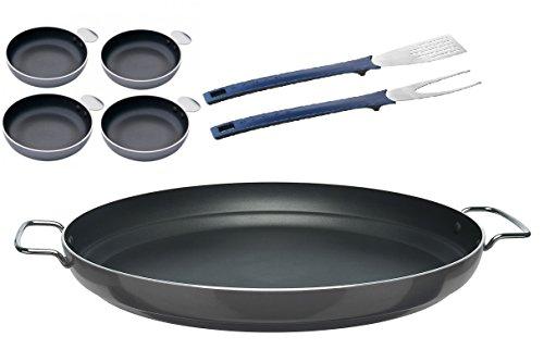 47cm Paella Pan, Tapas Set + Spatel & Gabel Set