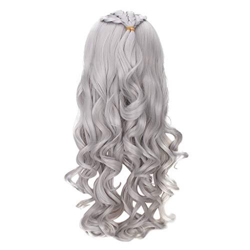 Xmansky Perücke,Sexy lange gewellte lockige Cosplay synthetische Perücke Welle Mode Kostüm Perücke für Spiel wig,Anzug für ()