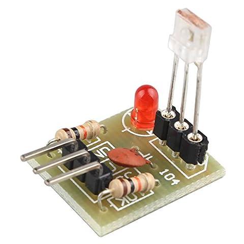 HALJIA Laser Non-Modulated Tube Receiving Module Laser Sensor Module Output High Level for Arduino Raspberry Pi