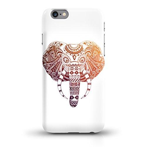 """JUNIWORDS Handyhüllen Slim Case für iPhone 6 / 6s - Motiv """"Hirsch mit Triangel-Muster"""" Schutzhülle für Ihr Smartphone Bunter Elefant weiß"""