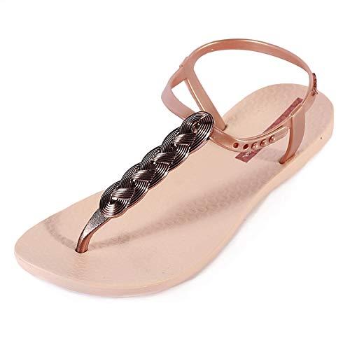 Ipanema Charm Metallic Braid Strap Sandal