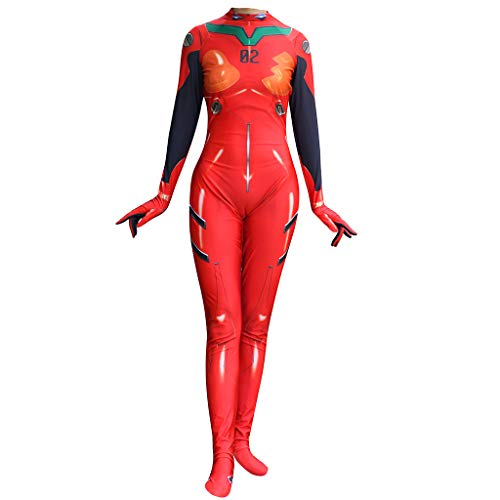 Film EVA Neon Genesis Evangelion Asuka Langley Soryu Plugsuit Erwachsene Cosplay Halloween Zentai Overall Body Suit Outfit Kostüm Erwachsene,EVA-M (Asuka Langley Cosplay Kostüm)