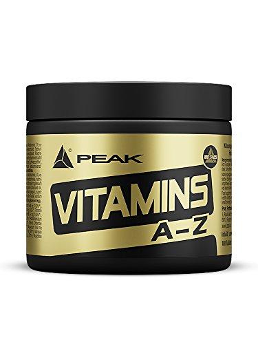 Peak VITAMINS A-Z - 180 Tabs á 750 mg - Net wt. 135g