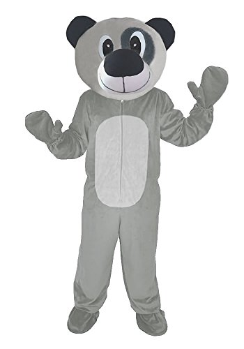 TEDDY BÄR 2 GRAU M-L -(XL) KOSTÜM FASCHING KARNEVAL MASKOTTCHEN (Maskottchen Anzug Bären)