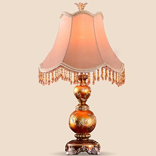 Warm Amber Glas (Amber kreative europäische retro - lampe studie schlafzimmer mit lampe warm)