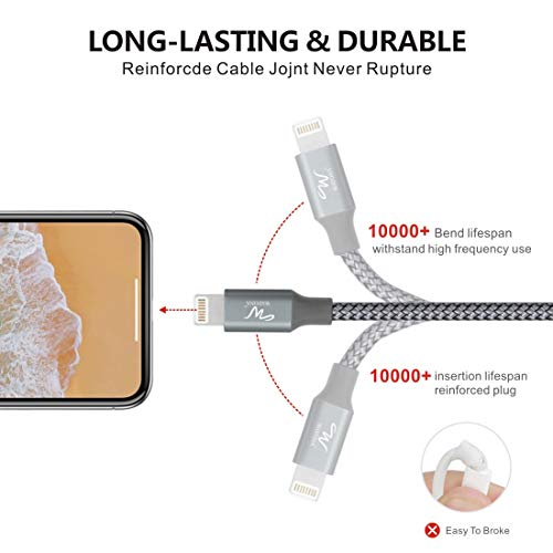 [Get Discount ] Wayona Nylon Braided WN3LG1 USB Syncing and Charging Cable sync and Charging Cable for iPhone, Ipad, (3 FT Pack of 1, Grey) 412 2BtGCXaRL