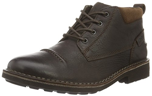Clarks Herren Lawes Top Kurzschaft Stiefel, Braun (Brown Warm Lined Leather), 41 (Herren Braun Stiefel Sale)