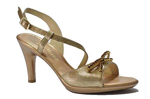 Melluso Sandali scarpe donna platino R5645 36