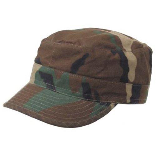 Original US BDU Cap Feldmütze in der beliebten Rip Stop ausführung / Das Summer MUST HAVE in 23 verschiedenen FARBEN Farbe Woodland Größe XL