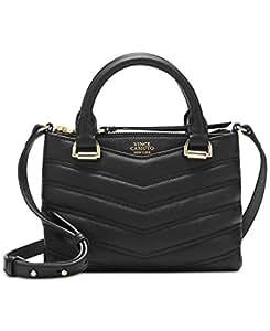 c350de666b9 Image Unavailable. Image not available for. Colour  Vince Camuto Women s  Daz Small Satchel Black Handbag