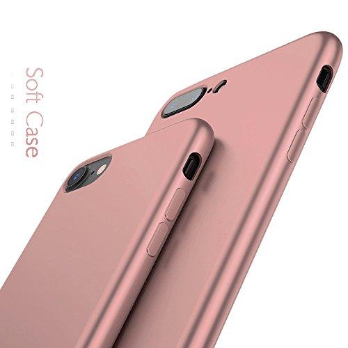 Rote Rosen Iphone ([ Apple iPhone 8, Rosé Gold ] NEW - Ultra Slim Case / Sehr dünne stabile Hülle / ( hochwertiger TPU-Bumper - fein matt - sehr leicht ) / Perfekter Schutz gegen Kratzer / Anti-Scratch Cover)