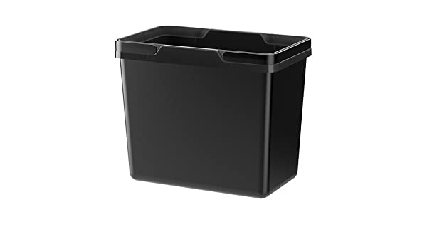 Ikea Variera Waste Sorting Bin 25 L Black Home Office