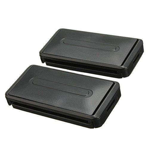 Clips de cinturon de seguridad - TOOGOO(R)Clip de conector negro de cinturon ajustable de seguridad de coche que puede extenderse para mejorar la seguridad