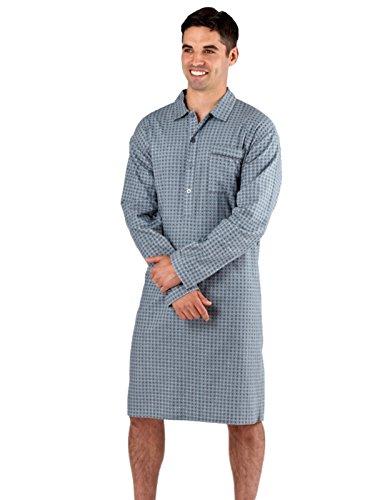 Da-uomo-100-cotone-spazzolato-flanella-diamante-Spot-invernale-accogliente-pigiama-notte-taglia-M-XXL