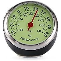 Winbang Termómetro para Coche, Luminoso, mecánico, termómetro, decoración Interior de Coche