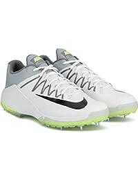 Nike Domain 2 Cricket Shoes, 10UK/11US (white/black-wolf grey - volt)