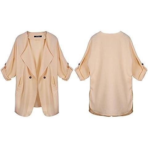 GSKBNT Autunno e inverno nuovo prodotti grandi dimensioni bavero giacca a vento Ms giacca donne , light brown , xl