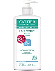 CATTIER Lait hydratant pour le corps modelant Aloé Vera-Onagre 20% gratuit - 500ml dont 20% offert