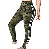 Yying Pantalones de Yoga sólido de Las Mujeres Leggings de Entrenamiento Medias Ejercicio Fitness Gimnasio Compresión Pantalones Deportivos de Las Correas Casuales S-XL