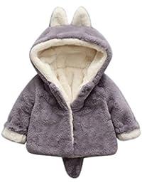 Ropa Bebé , Amlaiworld Bebé niño niña de otoño invierno encapuchados abrigo capa chaqueta gruesa ropa caliente 0-36 Mes