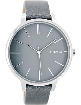 Oozoo Damenuhr mit Lederband 42 MM Graublau/Graublau C8673
