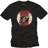 Maglietta uomo motociclista - Vintage Cafe Racer T-Shirt Moto Accessori