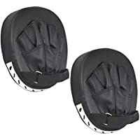 Nubstoer Paquete de 2 Leather Boxing Mitt Training Target Focus Punch Pad Glove Karate Muay Thai Kick MMA