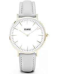 Cluse Montre Mixte Analogique avec Bracelet en Cuir – CL18414